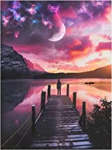 DIY 5D Diamond Painting Kit for Adults Children Beginners Lake Scenery Pattern Full Drill Diamond Painting Embroidery Cros...