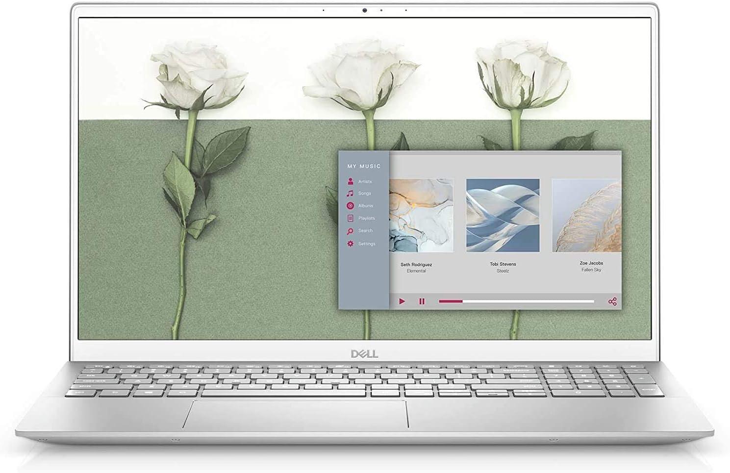 2021 Flagship Dell Inspiron 15 5000 15.6 inch FHD Laptop 11th Gen Intel Quad-Core i5-1135G7 8GB DDR4, 256GB SSD, Backlit Keyboard, Windows 10 Home - Silver (Latest Model) (Renewed)