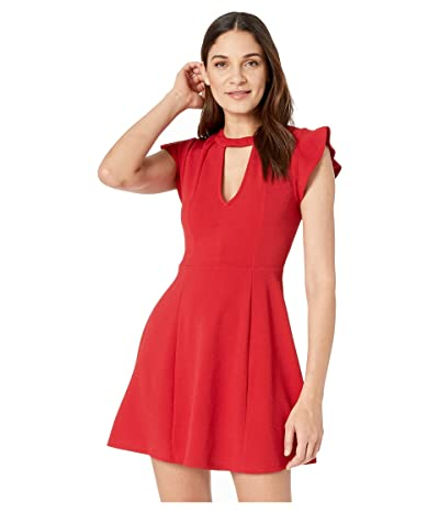 BCBGeneration Fit Flare Dress (Jester Red) Women