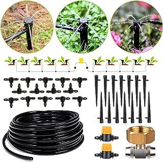 HIRALIY 45.9/14m Drip Irrigation Kits 8x5mm Blank Distribution Tubing Plant Watering System DIY Saving Water Automatic Irr...