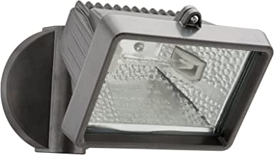 Lithonia Lighting OFLM 150Q 120 LP BZ M12 Mini Single-Head Flood Light 150-Watt Double Ended Quartz Halogen Lamp, Black Bronze