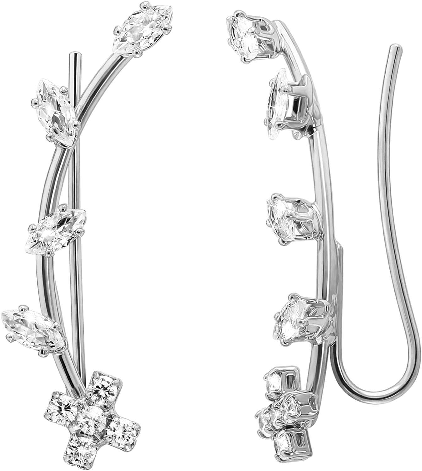 Mytys Ear Cuffs for Women 18K Gold White H Plated cheap Cubic Zirconia price