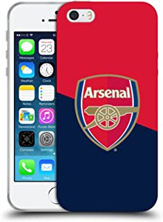 Official Arsenal FC Red & Blue Logo 2016/17 Crest Soft Gel Case Compatible for iPhone 5 iPhone 5s iPhone SE