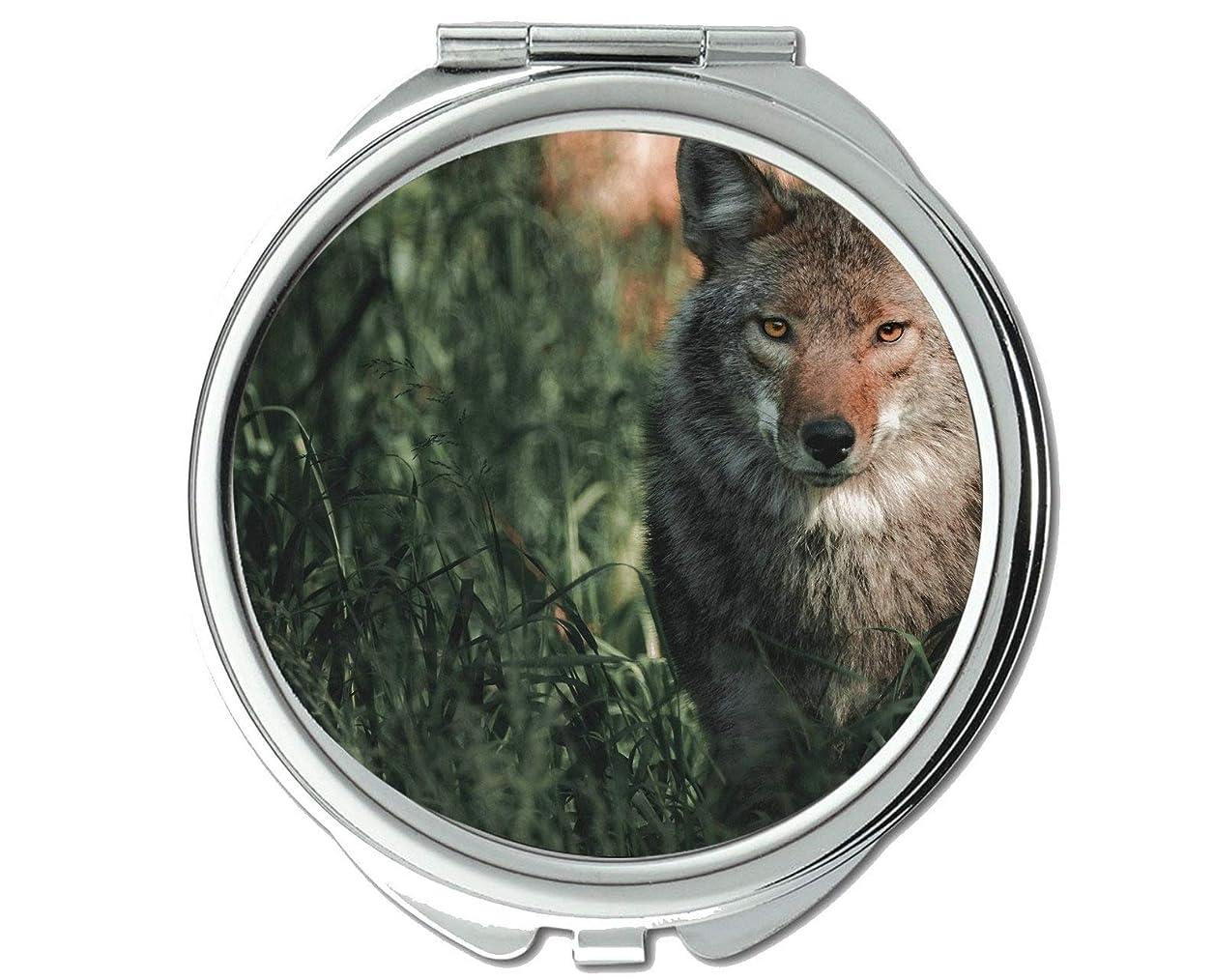 であるヘビ床ミラー、トラベルミラー、野生生物捕食者のオオカミポケットミラー、1 X 2 X拡大鏡