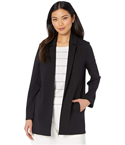 Eileen Fisher Notch Collar Jacket (Black) Women
