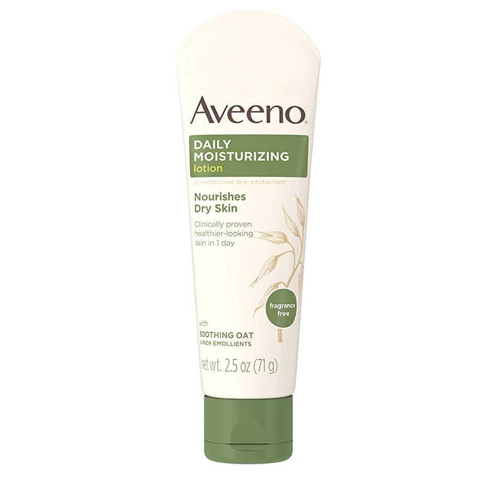 夕方ハイランドはっきりしないAveeno Daily Moisturizing Lotion with Oatmeal and Rich Emollients Fragrance Free, 2.5 oz by Aveeno