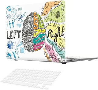 SOUNDMAE Macbook Air 13 Inch Case, [Left Right Brain] Frosted Plastic Hard Shell Skin Smooth Touch Case & Keyboard Cover for MacBook Air 13.3 Model A1369&A1466, Smart
