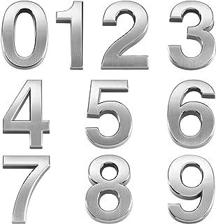 Details about  /Autocollant 1.38 /'/' Plastique Numéro 6 Maison Boites aux Lettres Argenté 2Pcs