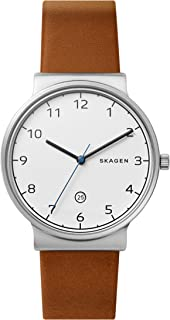 Skagen Men's Ancher Three Hand Silver Stainless Steel Watch SKW6433