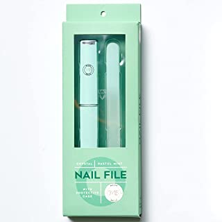 Professional Glass Nail File With Case Set   Crystal Nail File For Natural and Acrylic Fake Nails   Manicure and Pedicure Nail Care   Etched Double Sided, Superior alt. to Emery Boards and Buffers…