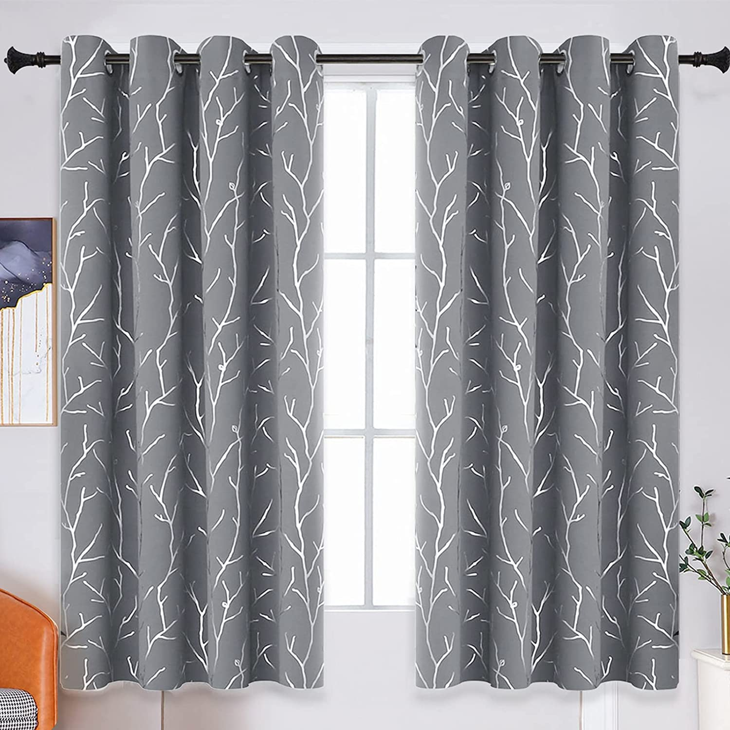 Popular overseas BUHUA Bedroom Blackout Curtains Grommet Fresno Mall Drapes Top Insul Thermal