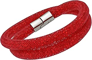 SWAROVSKI Stardust 5185873 Red Crystals Double wrap Bracelet - S