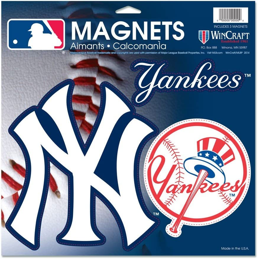 WinCraft MLB New York OFFicial Yankees Vinyl x 18880014 Free shipping anywhere in the nation Magnet 11