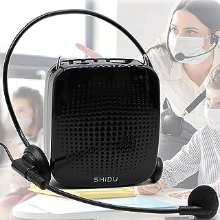 Voice Amplifier 15W Portable Microphone Speaker Headset-2000mAh Rechargeable Mini Compact Megaphone Mic Amplifier System w...