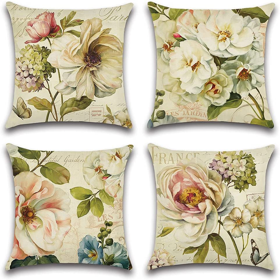 Artscope Set of 4 Waterproof Throw Super Special SALE held Challenge the lowest price of Japan 18x18 Pillow Inches V Covers