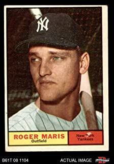1961 Topps # 2 Roger Maris New York Yankees (Baseball Card) Dean's Cards 2 - GOOD Yankees