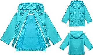 Kid's Long Sleeve Raincoat Jacket Hoodies with Two Pockets