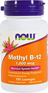 NOW Foods Methyl B-12 1000mcg, 200 Lozenges (2 Packs of 100 lozenges)