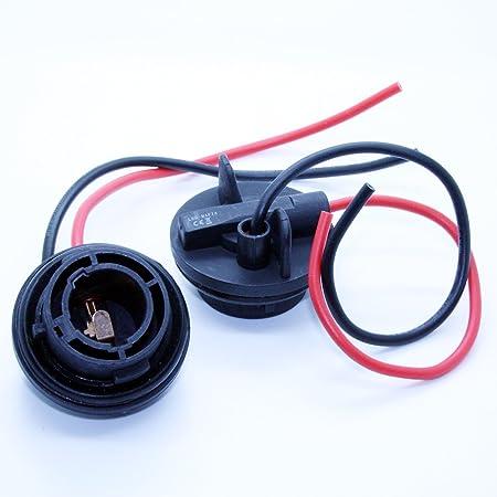 Led Mafia 2x Bau15s 1156 Lampenfassung Halogen Lampen Fassung Stecker Kabel Sockel 12 Volt Auto