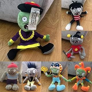 Generic Collection 2018!!! Plants vs Zombies PVZ Figures Plush Baby Staff Toy Stuffed Soft Doll (New Set 7pcs)