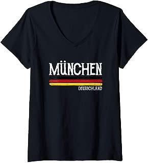 Womens Munich Germany Gift Munchen Souvenir V-Neck T-Shirt
