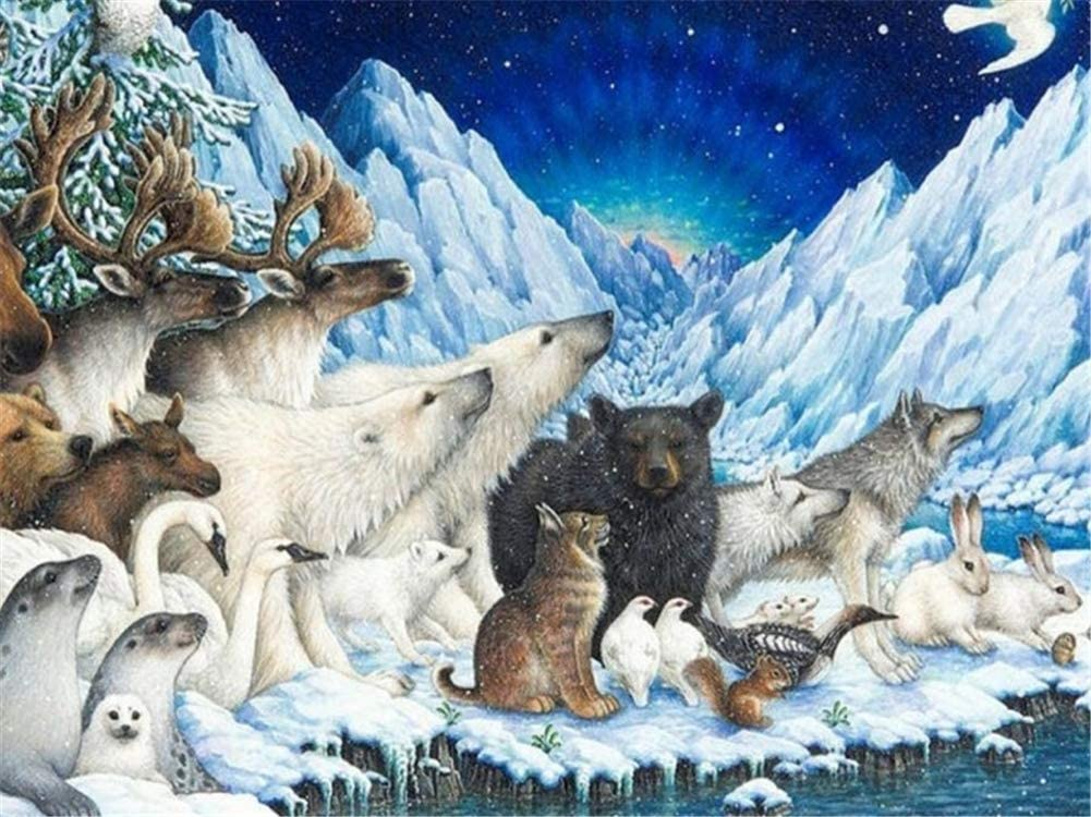 Diamond Painting Kits Polar Louisville-Jefferson County Mall Popular brand in the world Bear Large Deer 28x72inch 70x180cm