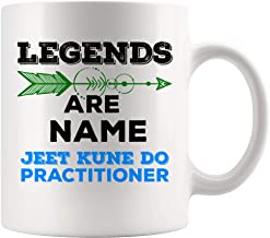 Legend Are Name Jeet Kune Do Gift Mug Coffee Cup Practitioner Mugs JKD Master Martial Art Coach Trainer Training Fighter Funny Gift for MMA Fan Lovers