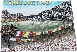 Wedare 3D Tsangu Lake Sikkim India Refrigerator Magnet Tourist Travel Souvenirs Handmade Resin Craft Magnetic Stickers Home Kitchen Decoration Fridge Magnet Collection Gift