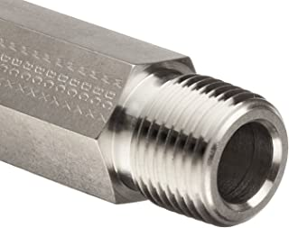 Parker Stainless Steel 316 Pipe Fitting, Hex Long Nipple, 1/4