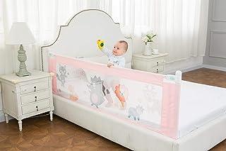 Safe-O-Kid Mesh Extra Large King Bed Rails (6x2.5 ft, Light Pink) - Pack of 2