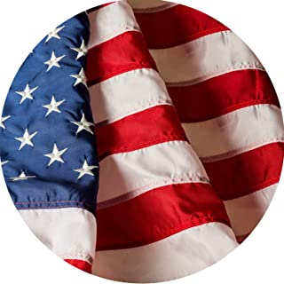 DFLIVE American Flag Made from Heavy Duty Nylon USA US Outdoor Flag,Embroidered Stars and Sewn Stripes and Brass Grommets,UV Protected 210D Nylon Longest Lasting for Indoor/Outdoor Use (3X5FT)