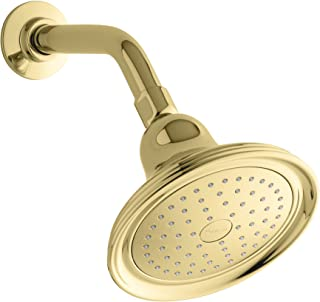 Kohler K-10391-AK-PB Devonshire Single-Faucet Katalyst Showerhead, Vibrant Polished Brass