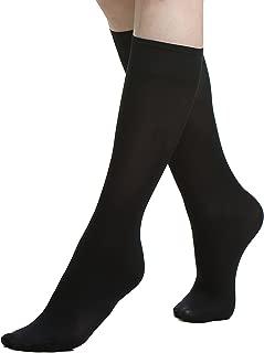 Knee High Socks for Women/Girls - Opaque Nylon Pop Socks Premium Quality 4 PACK