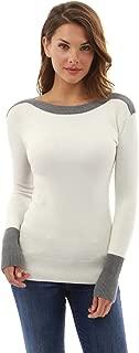 PattyBoutik Women Boat Neck Drop Shoulder Sweater