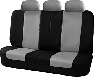 FH Group Gray-Bench FB051GRAY013 Universal Seat Cover (Allow Right and Left 40/60, 50/50 Split Fit Most of Vehicle)