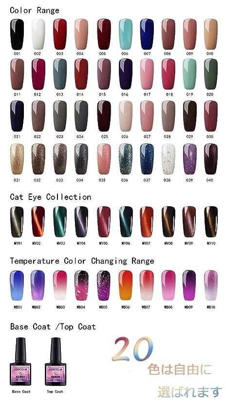 ペット腐った楕円形Twinkle Store ジェルネイルカラー カラージェルセット 20色套装 8ml キャットアイジェルセット カメレオンカラージェルセット UV/LED 适用 下の色で20ボトルを自由に選ぶことができる(トップコートとベースコートを含む) ネイルアートジェルで簡単に DIY