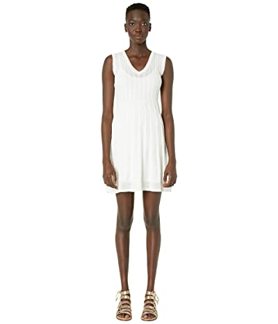 M Missoni Sleeveless Short Dress in Fit Flare (White) Women