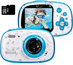 Dessports Toy Camera Waterproof HD Video Cameras for Kids Digital Camcorder Cute Children's Zoom Camera Birthday for Kids ...