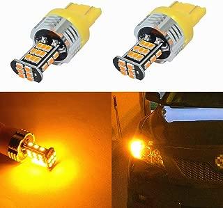 Alla Lighting Super Bright 7440 7443 LED Turn Signal Light Bulbs 2000 Lumens 7440 7442 7444 7443 LED Bulb 3020 30-SMD 7440 7443 LED Lights Bulbs Amber Yellow Blinker Lights Replacement for Cars Trucks