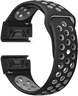 For Garmin Fenix 5X - Premium Silicone Soft Smart Watch Band Strap - Black