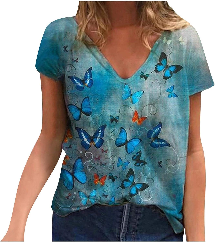 Cute Shirts for Teen Girls Crop Top Womens Vintage Queen Shirt Summer Cute Short Sleeve Casual Graphic Tees Blue
