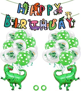 Dinosaur Themed DIY Party Supplies for Kids Birthdays Birthday Balloon Set Party Banner Decoration Bunting Festival Decora...