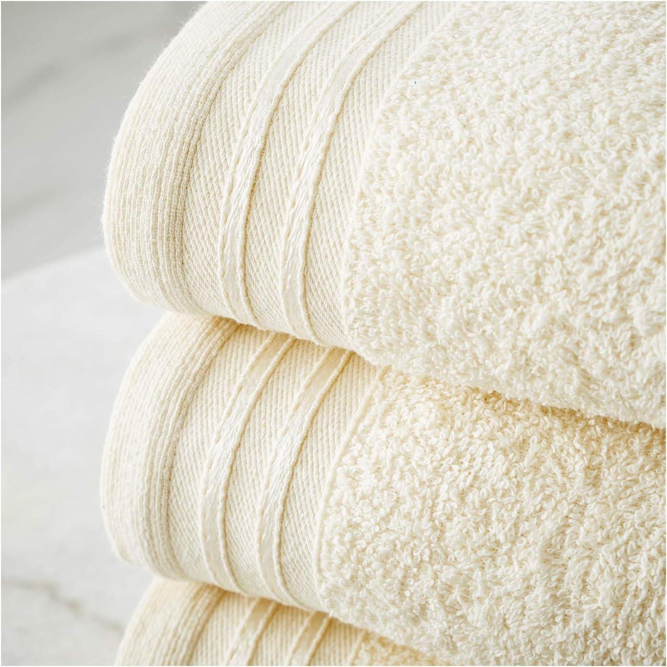 100% Egyptian Cotton Soft Water Absorbent Towel 500 GSM FAIRWAYUK ...