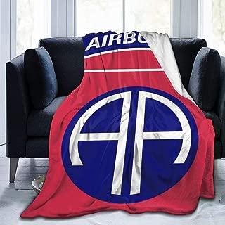 Blanket Army Retro 82nd Airborne Division Throw Blanket Ultra Soft Velvet Blanket Lightweight Bed Blanket Quilt Durable Home Decor Fleece Blanket Sofa Blanket Luxurious Carpet for Men Women Kids