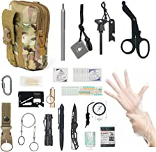 Survival Gear and First Aid Items Kit, Multi-Purpose Professional Survival Equipment SOS Emergency Tool for Camping, Hikin...