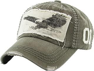 Eagle and Free Spirit Distressed Baseball Cap Dad Hat Adjustable Unisex Fashion