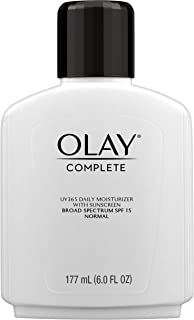 Face Moisturizer by Olay, Complete All Day Moisturizer with Broad Spectrum SPF 15, Normal, 6 Fluid Ounce