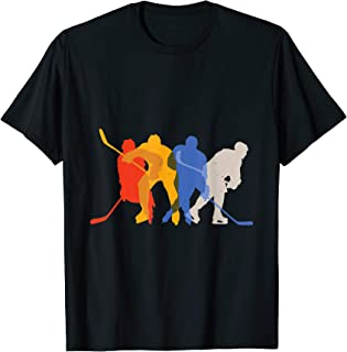 Ice hockey design featuring hockey players' silhouettes. T-Shirt