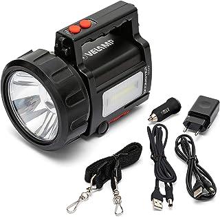 Velamp Doomster Trekk: 10W LED Oplaadbare Spot + Lantaarn + Powerbank
