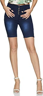 SLVETE Women's Denim High Rise Shorts